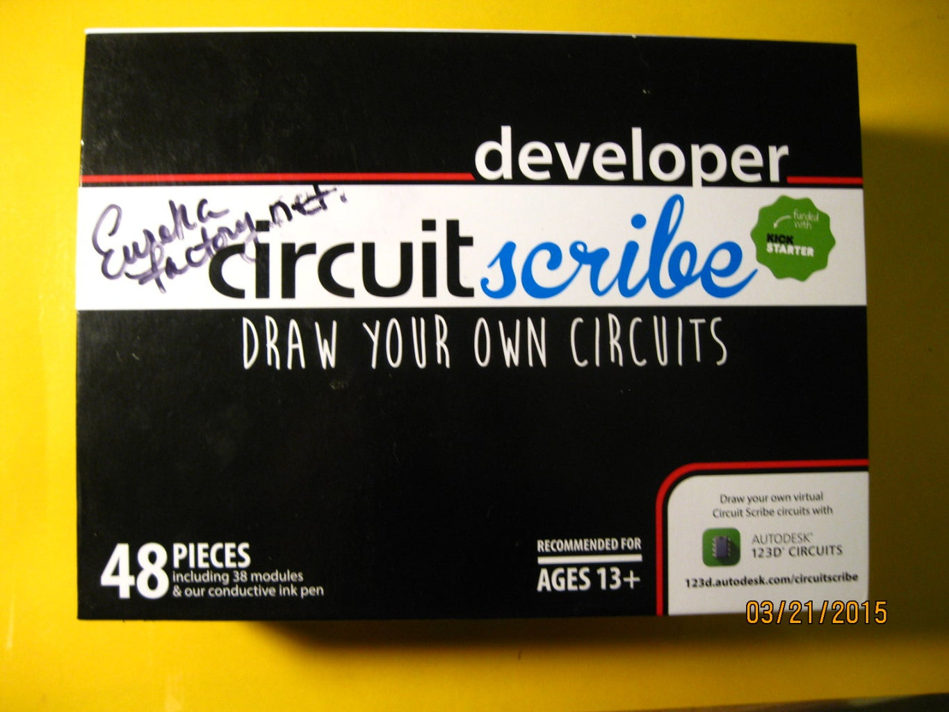 Creating Educational Electronic Puzzles With the Circuitscribe Kit and 123D's Circuitscribe Editor