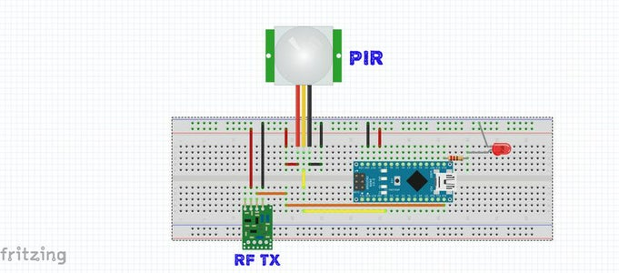 Connect the RF Transmitter