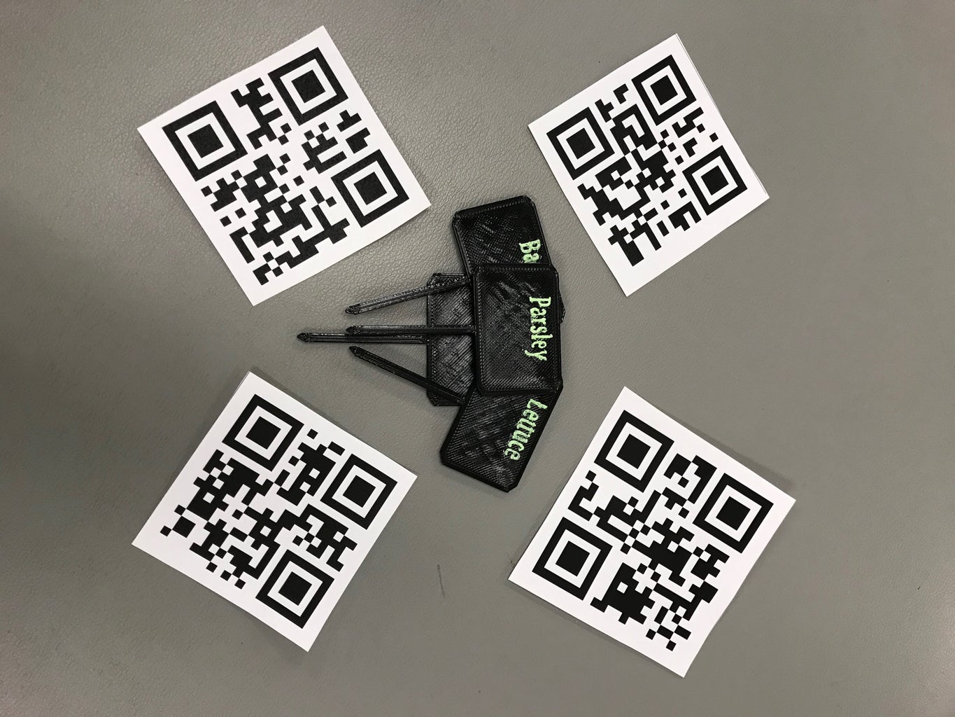 3D Printed Garden Tag and QR Holder
