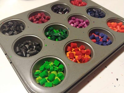 Put the Third Layer of Crayons in the Muffin Tin