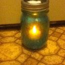 Glitter Jar Candle Holder