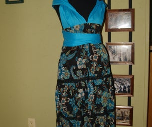 Blue Recycled Convertible Dress