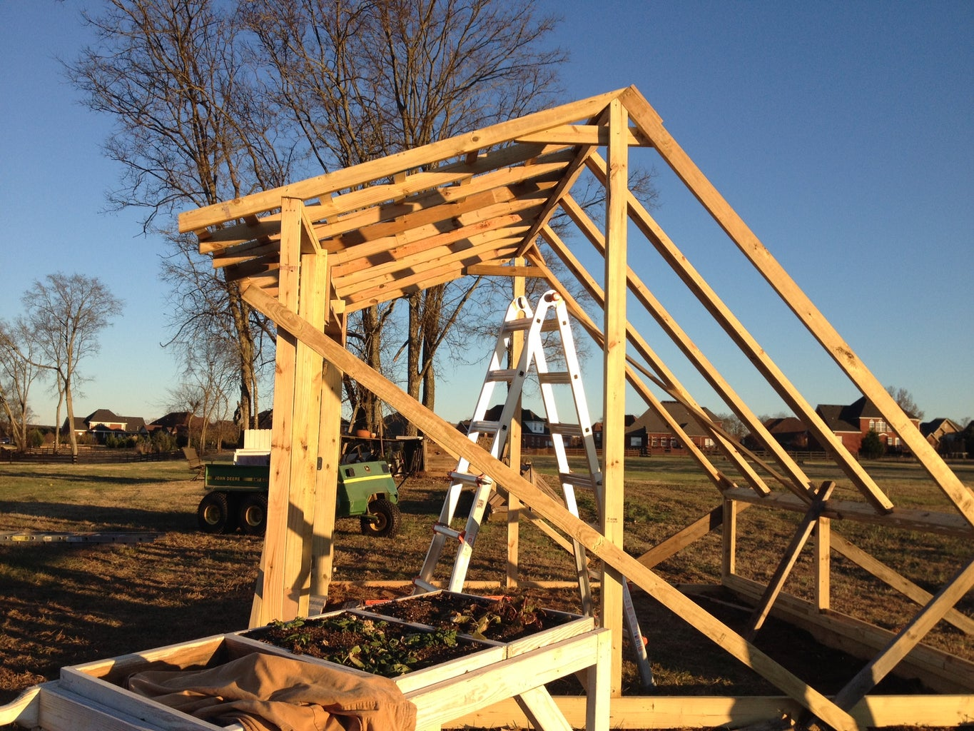 Final Framing, Ridge and Roof Assembly.