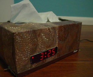 Tissue Box & Digital Clock Mash-Up!