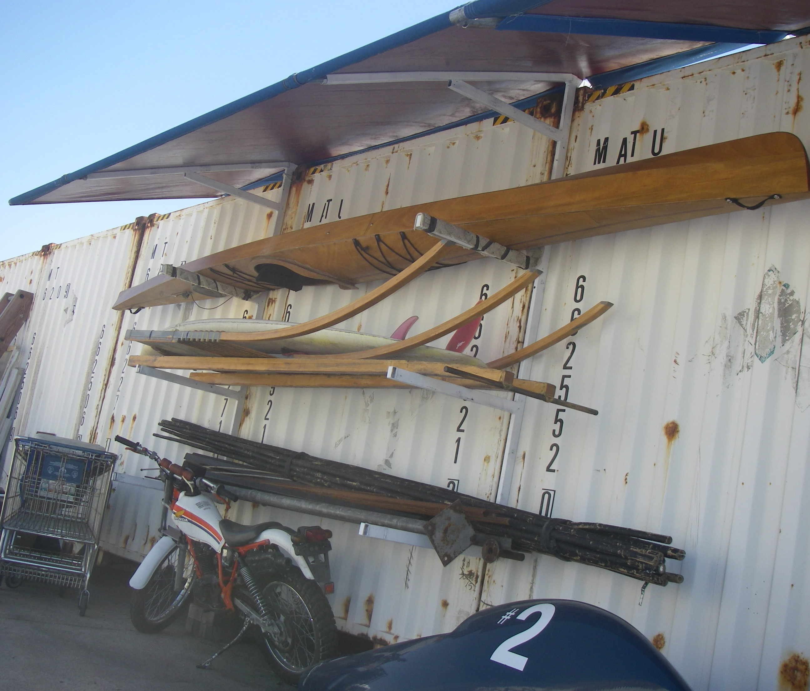 Awning and Storage Rack