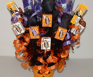 Halloween Decorations: Halloween Candy Bouquet