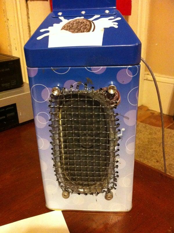 Repurpose a Tin to Be a Speaker/ Amp Enclosure