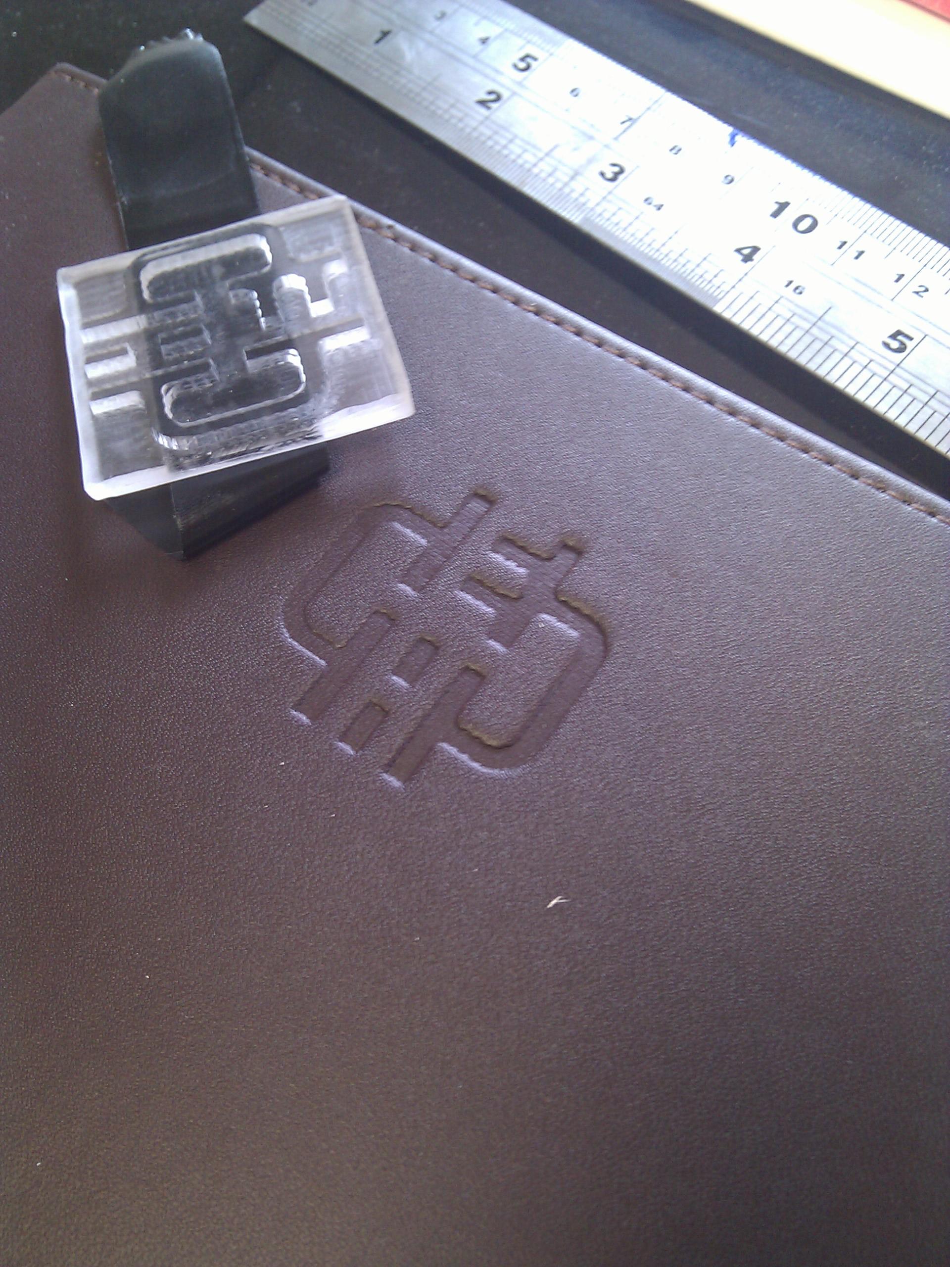 Debossing (embossing / letterpress)