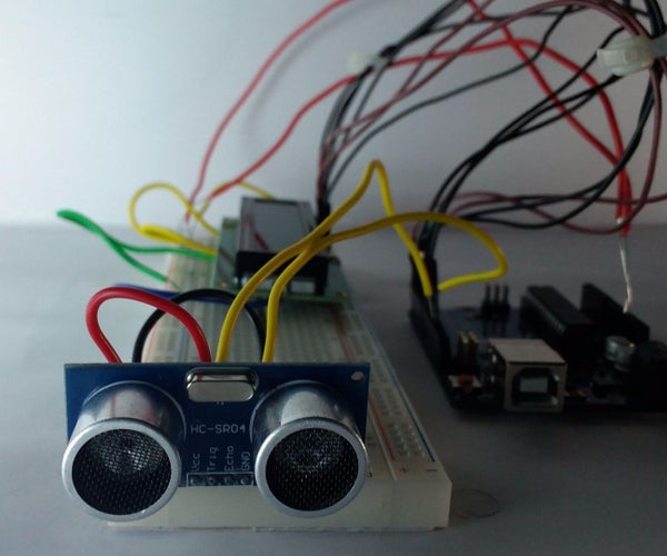 LCD Distance Measurement Using Arduino