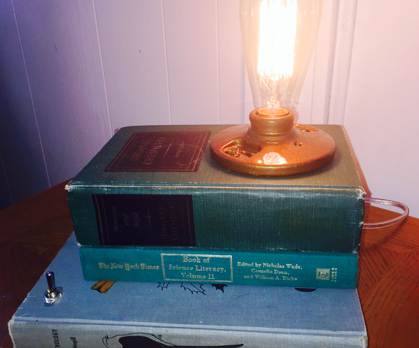 Build a Reading Lamp Out of Books