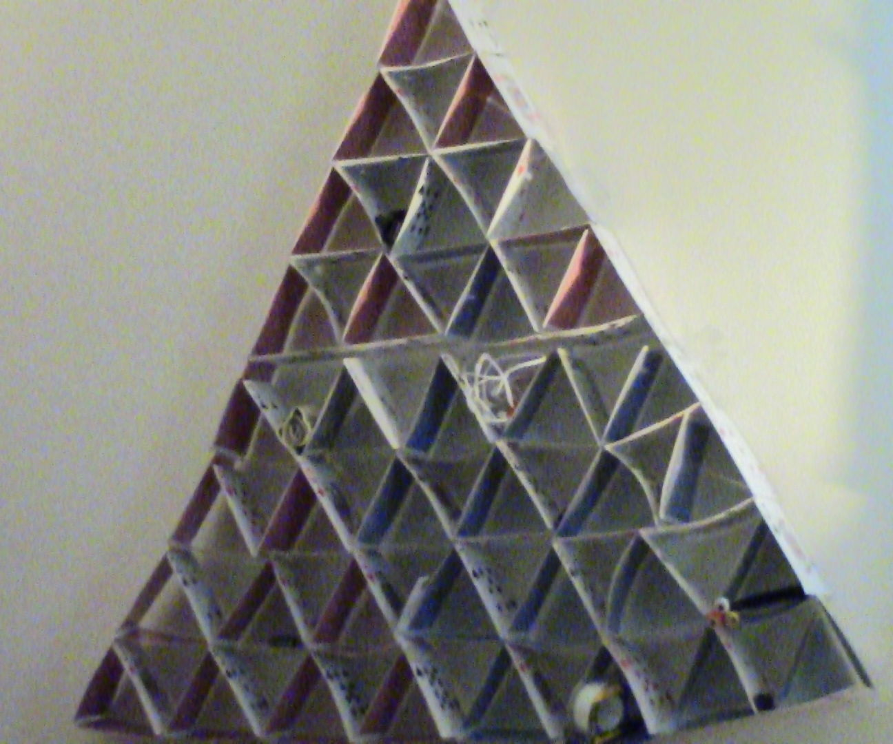 Card Pyramid Stuff Holder