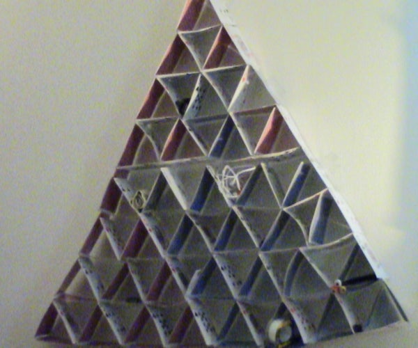 Card Pyramid Stuff Holder