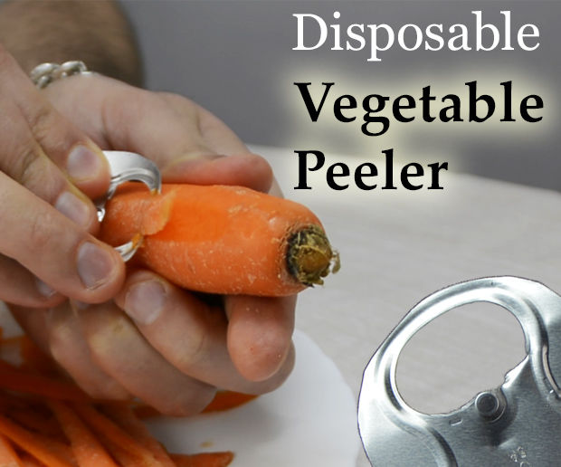 Vegetable Peeler From a Soda Can