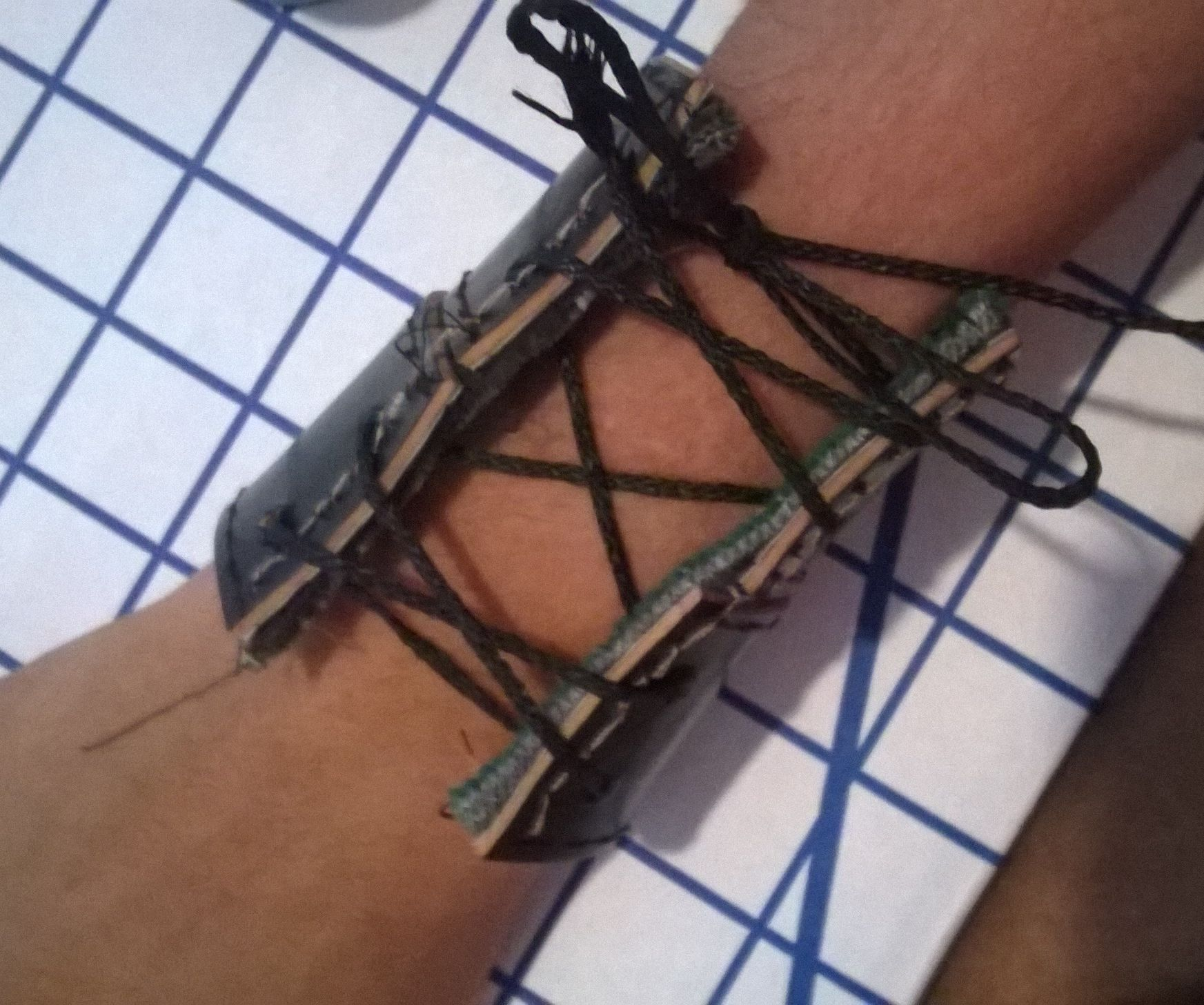 Lace-up Leather Cuff from Old Belt