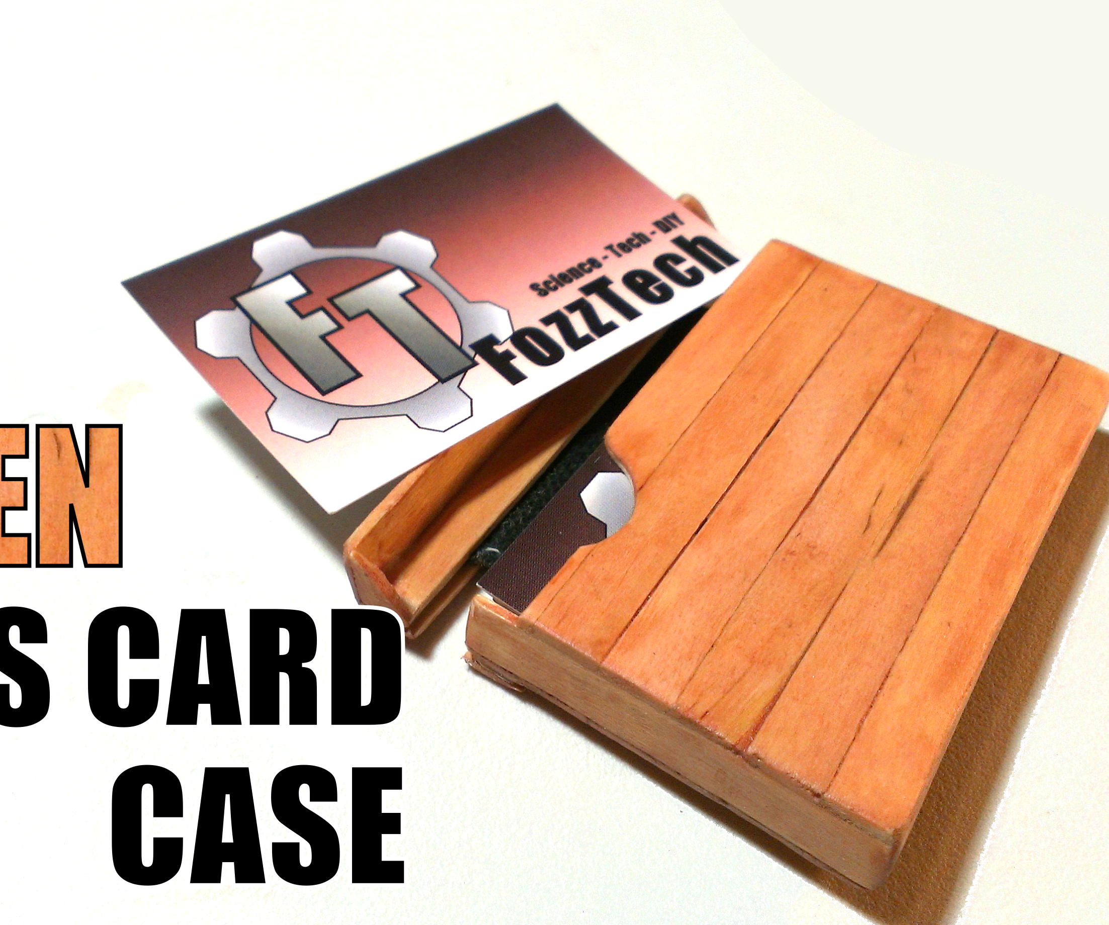 How to Make a Wooden Business Card Case/Holder