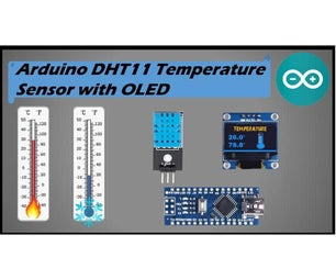 DHT11 Sensor With OLED Part 1 (Temperature)