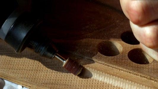 Sanding the Wooden Top