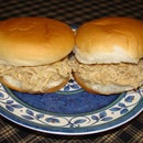 Fast and easy shredded chicken sandwiches