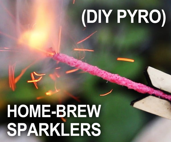 Homemade Sparklers for the 4th of July! - (Improvised Hand-Held Fireworks)
