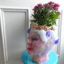 Make a Head Planter From Hot Glue