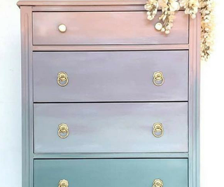 How to Paint Ombré Furniture