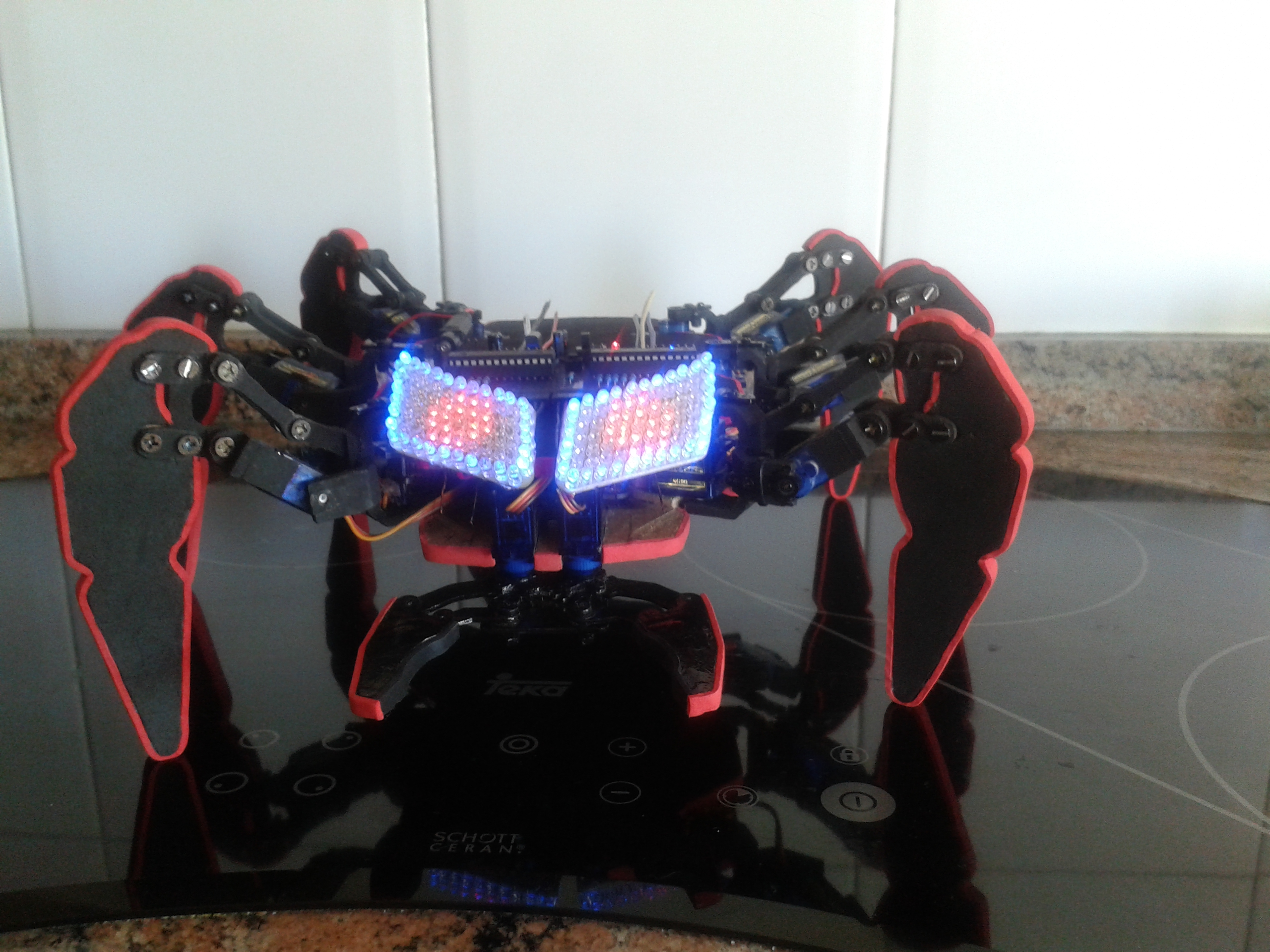 DIY handmade Hexapod with arduino (Hexdrake)