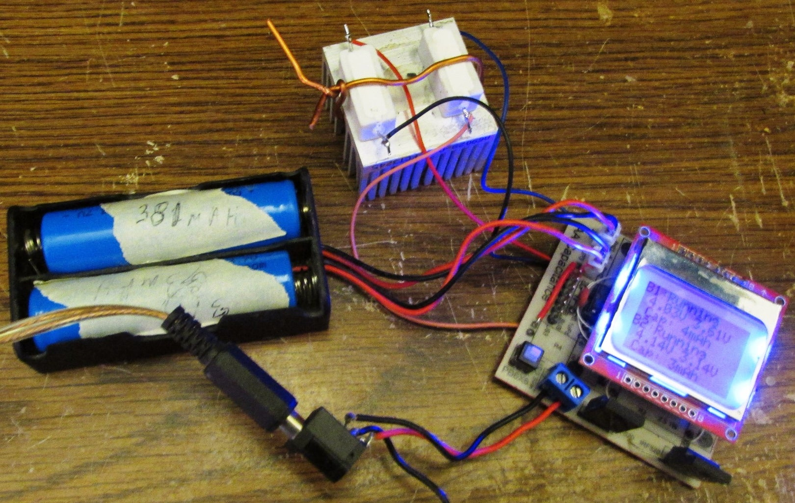 18650 Battery Capacity Tester