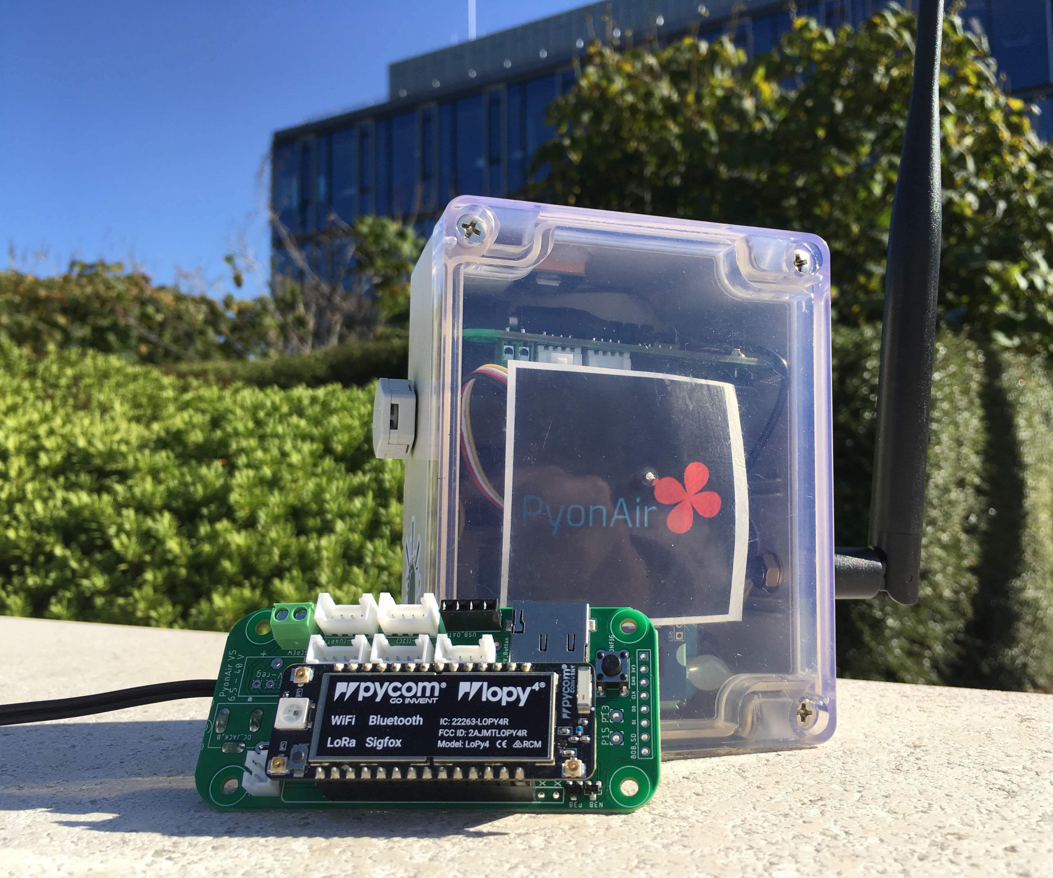 PyonAir - an Open Source Air Pollution Monitor