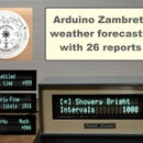 DIY Arduino Zambretti Weather Forecaster on VFD Display