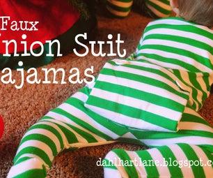 Faux Union Suit Pajamas