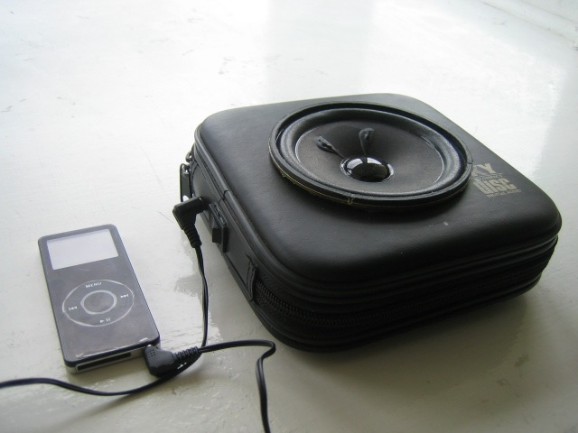 Portable speaker in a CD case!!