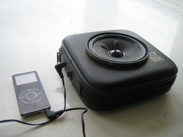 Portable Speaker in a CD Case!!