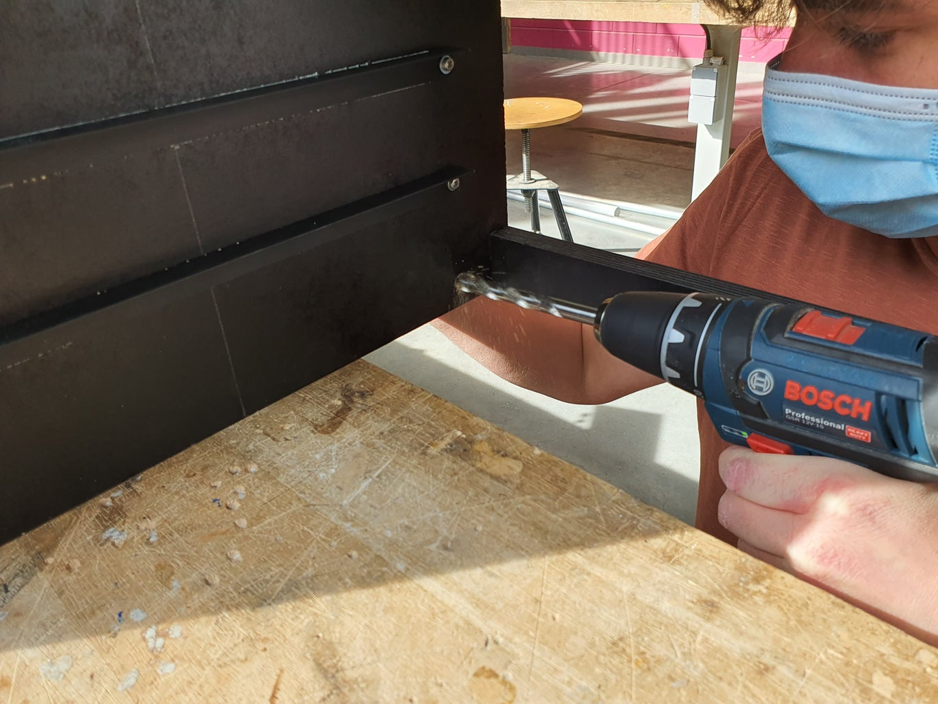 Step D3: Drill Holes in the Frame
