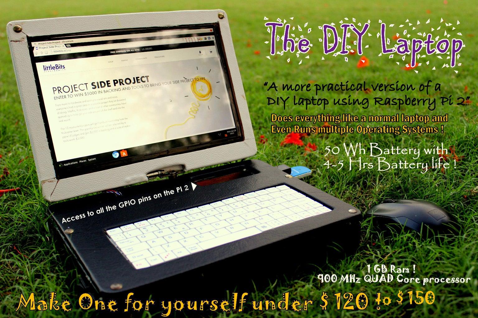Pi-Berry Laptop-- the Classic DIY Laptop