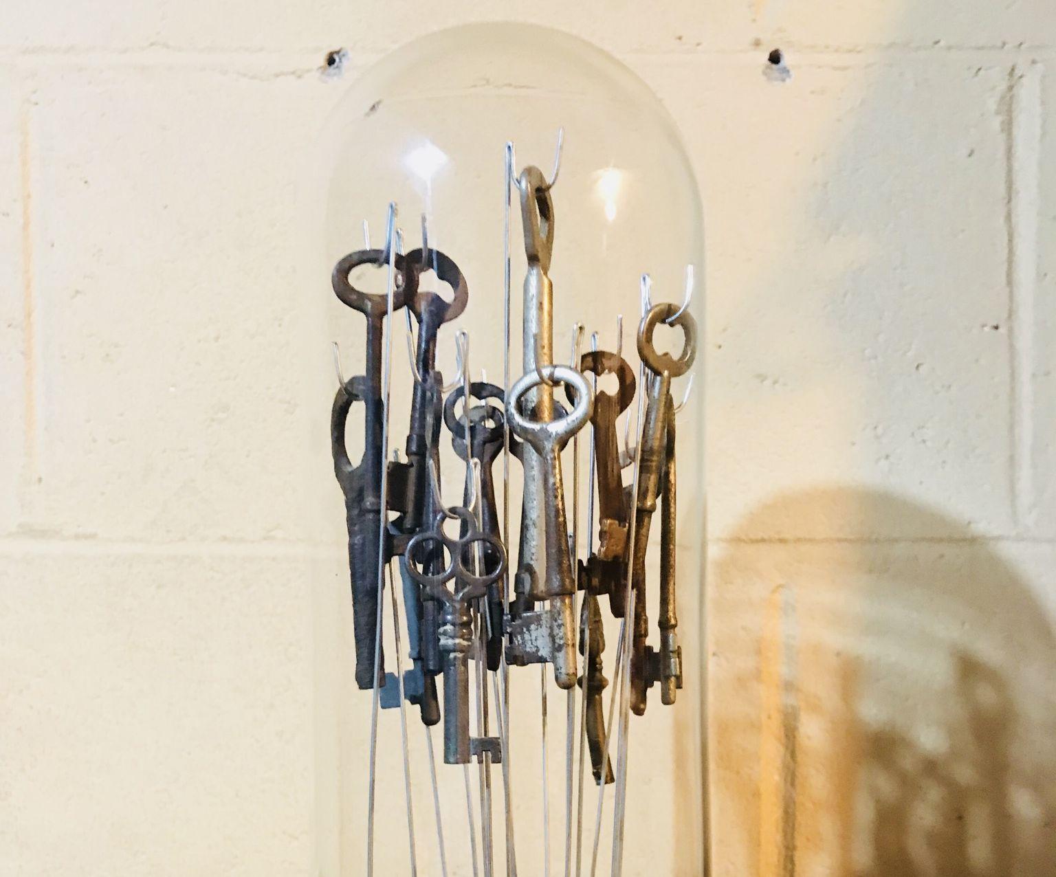Repurposed Skeleton Key Cloche