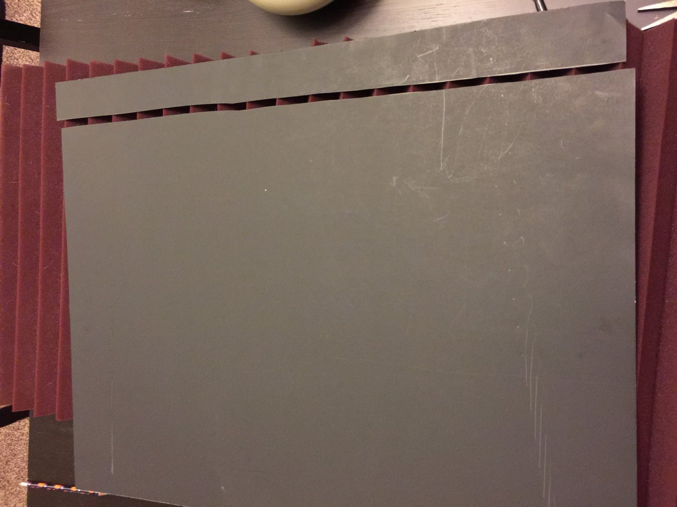 Cut the Poster Board to Fit the Foam