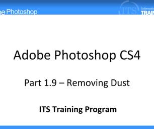 Removing Dust: Adobe Photoshop (1.9)