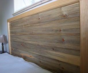 Beetle Kill Pine Headboard (and Frame)