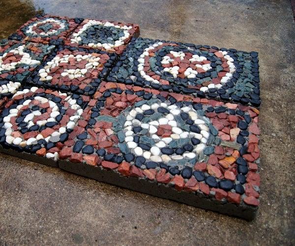 How to Make Mosaic Rock Pavers!