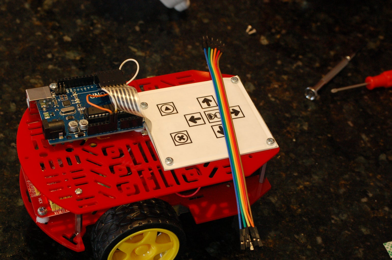 Connect the Motor Driver to Logic Pins of the Arduino