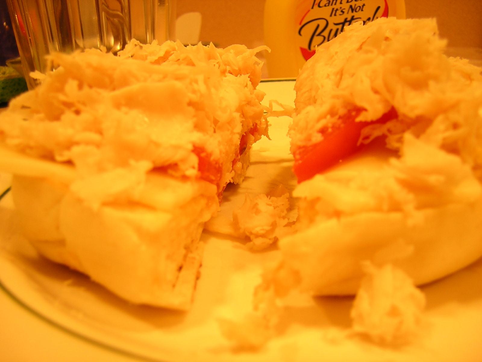 Openface Bagel Sandwich