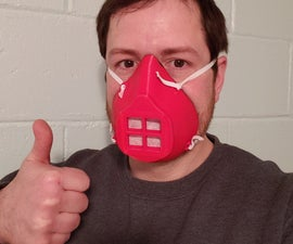 3D Printed COVID-19 Mask With Gasket (NOW WITH 100% MORE FLANGE!!!)