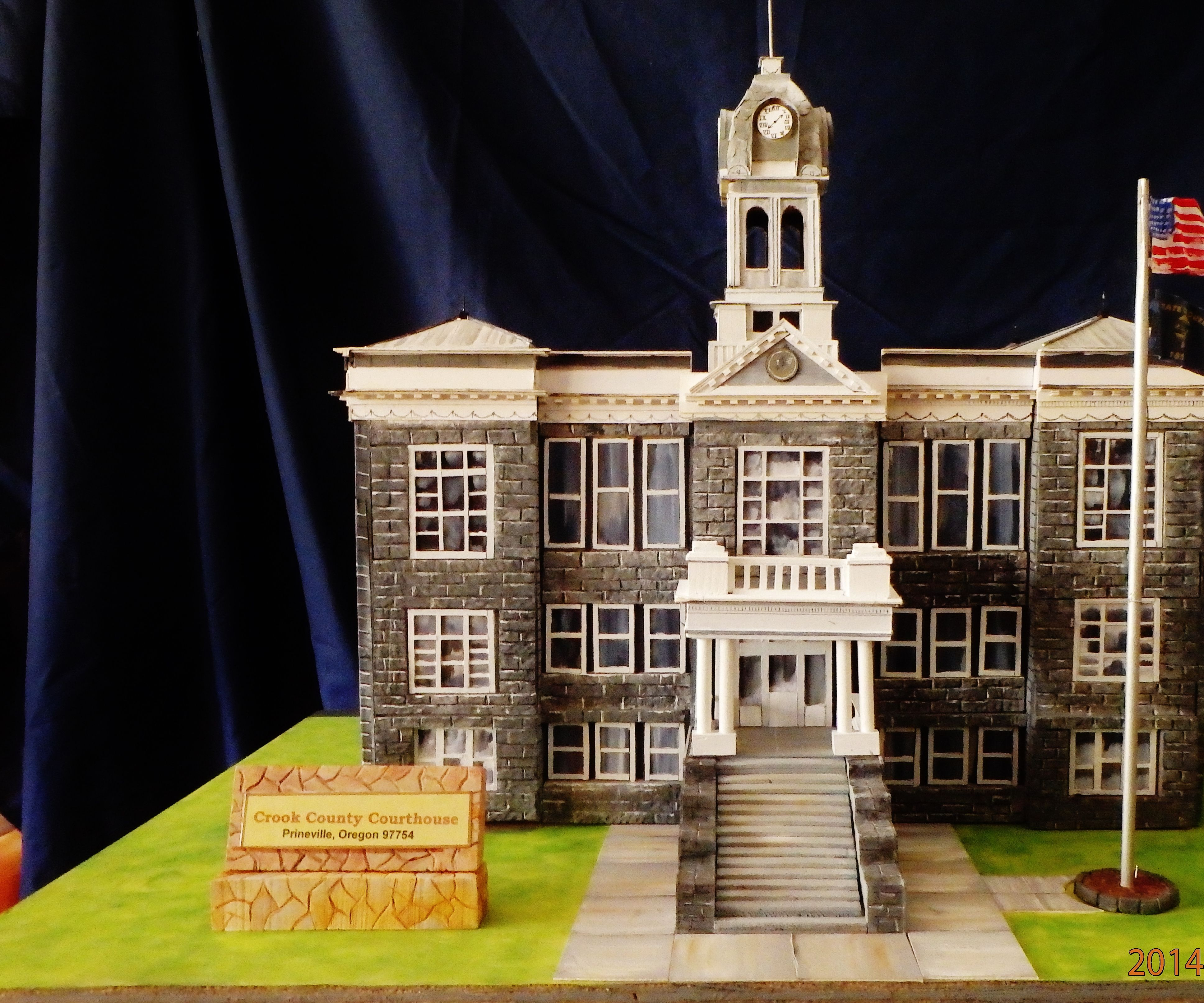 Scale Model of Historic Building: Courthouse