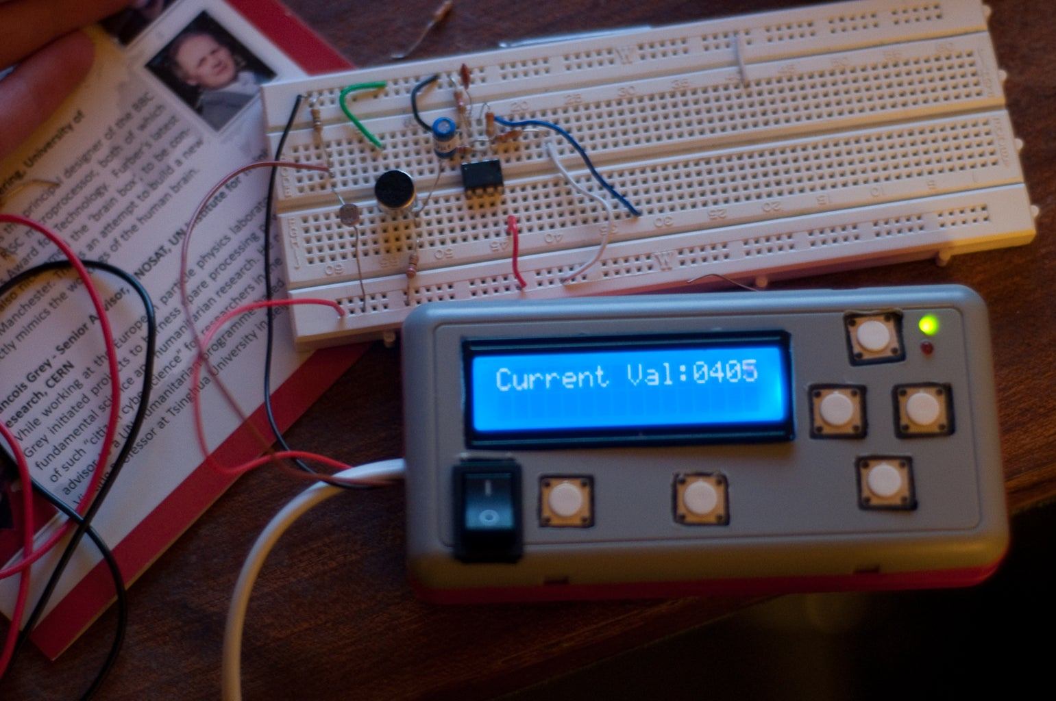 LCD, the Intervalometer and ADC