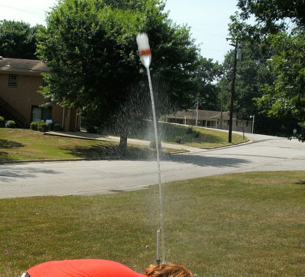 Bottle Rocket Launcher: the Cheap, Doesn't Get You Wet Edition
