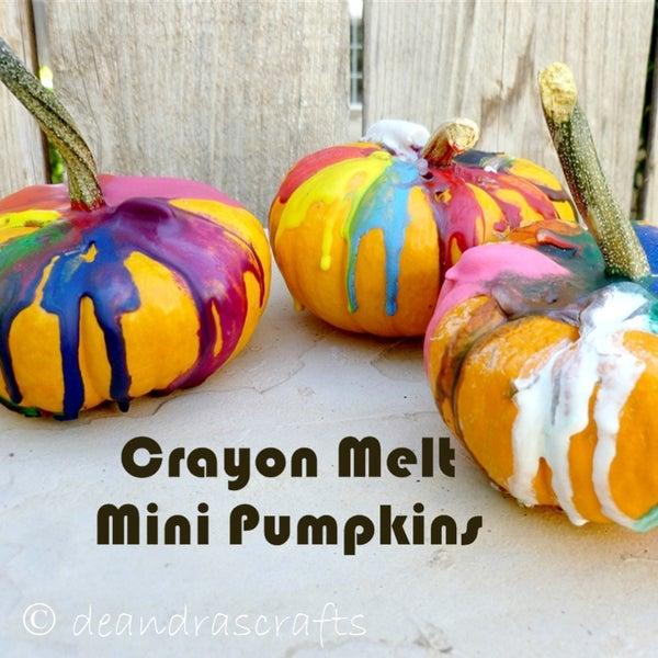 Crayon Melt Art Mini Pumpkins