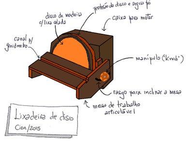 Disk Sander - Lixadeira De Disco