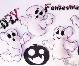 4 Ghosts Foamy or EVA for Halloween | DIY |---4 Fantasmas De Foamy O Goma Eva Para Halloween | DIY |