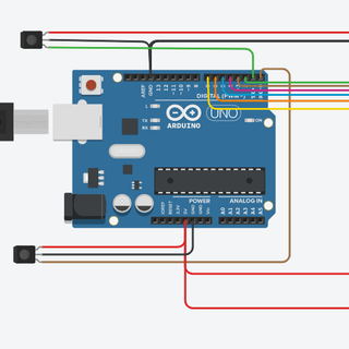 Visitor Counter Using Arduino on TinkerCad