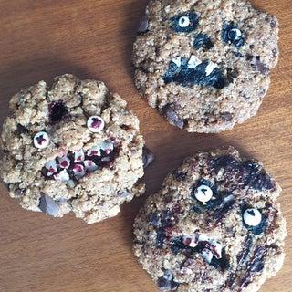 Creepy Chocolate Chip Cookies